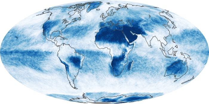 Global Map Cloud Fraction Image 4