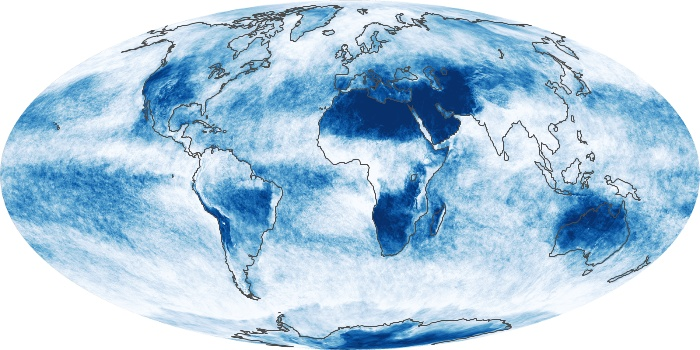 Global Map Cloud Fraction Image 7