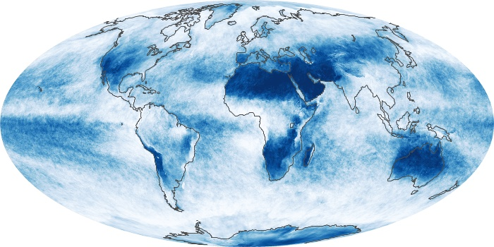 Global Map Cloud Fraction Image 8