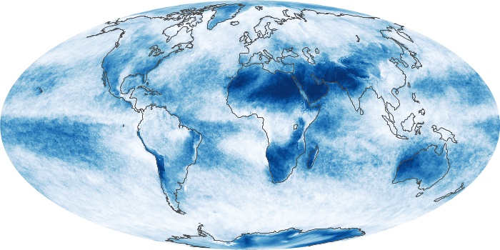 Global Map Cloud Fraction Image 9