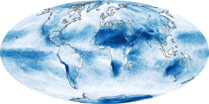 Global Map Cloud Fraction Image 10
