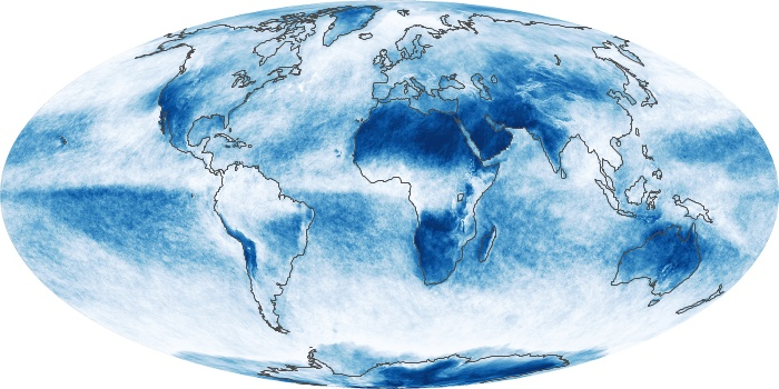 Global Map Cloud Fraction Image 15