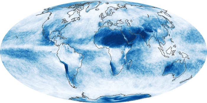 Global Map Cloud Fraction Image 22