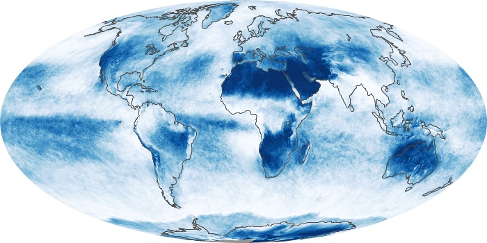 Global Map Cloud Fraction Image 1