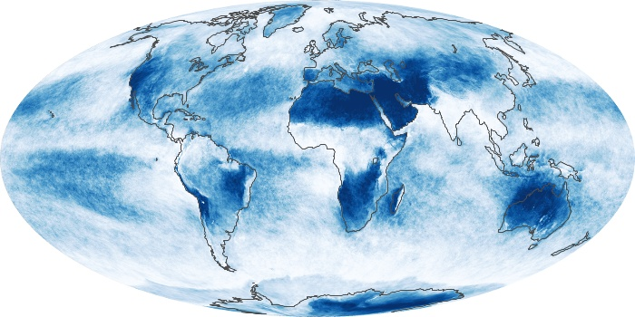 Global Map Cloud Fraction Image 30