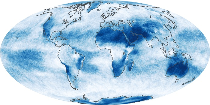 Global Map Cloud Fraction Image 32