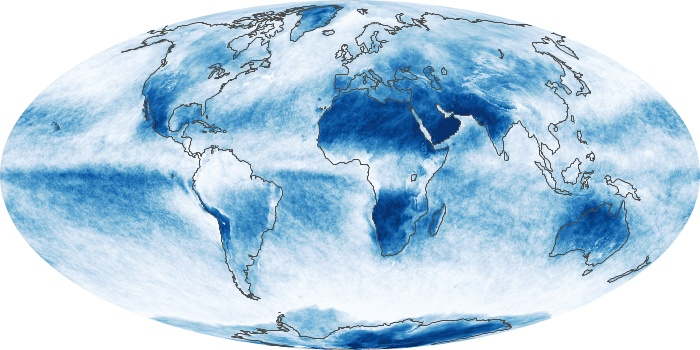 Global Map Cloud Fraction Image 11