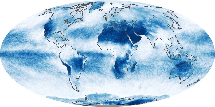 Global Map Cloud Fraction Image 12