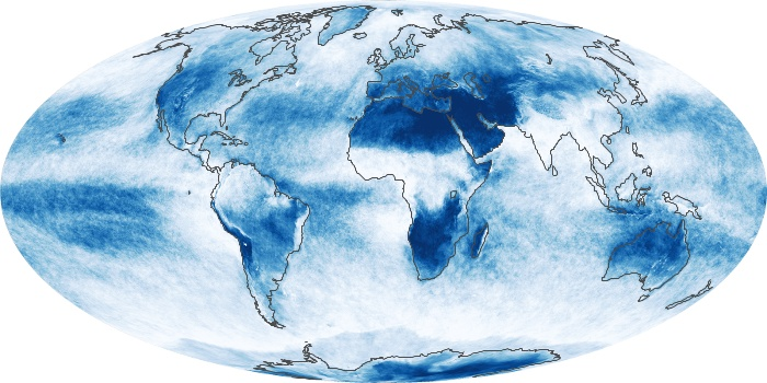 Global Map Cloud Fraction Image 14