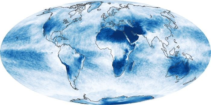 Global Map Cloud Fraction Image 43
