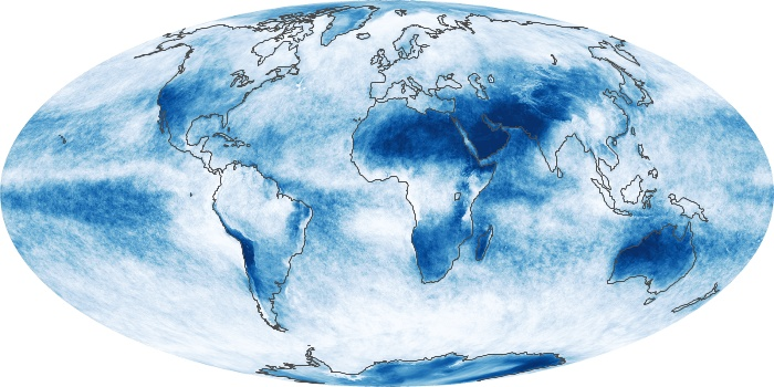 Global Map Cloud Fraction Image 45