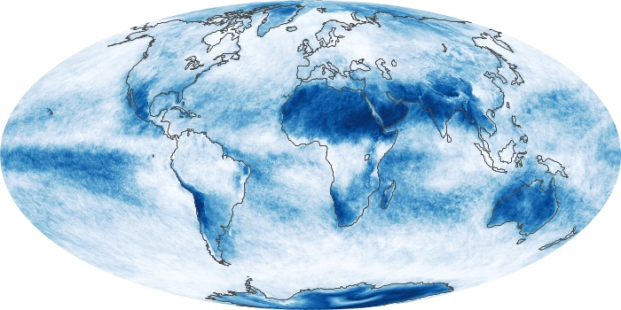 Global Map Cloud Fraction Image 17