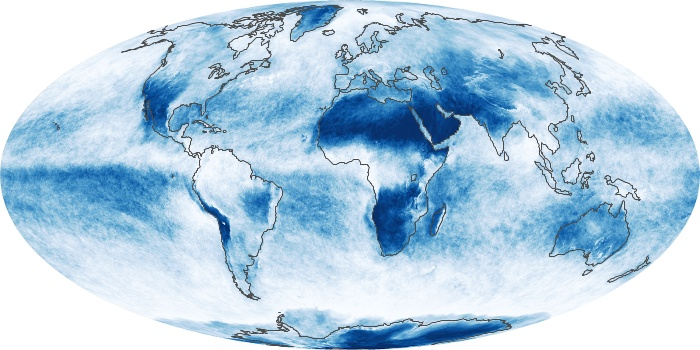 Global Map Cloud Fraction Image 23