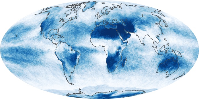 Global Map Cloud Fraction Image 54
