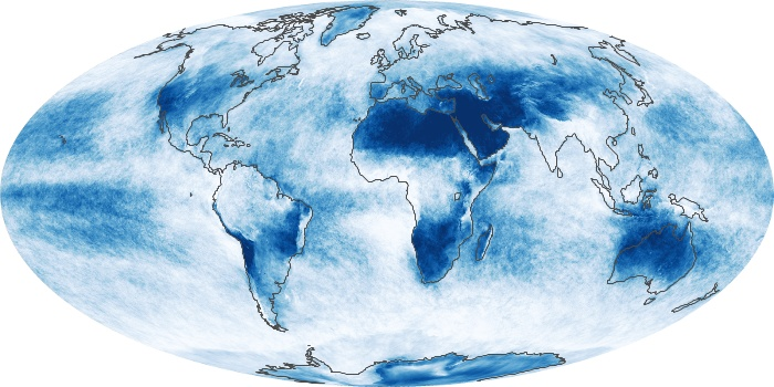 Global Map Cloud Fraction Image 55
