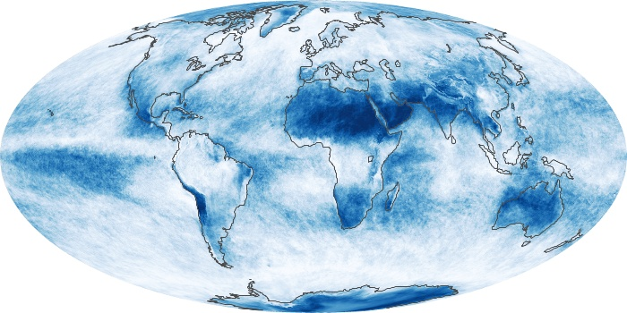 Global Map Cloud Fraction Image 57