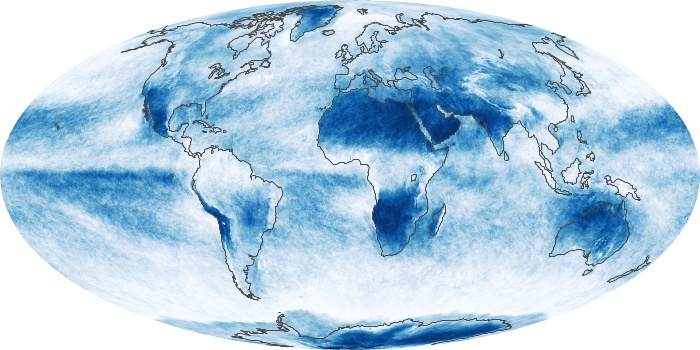 Global Map Cloud Fraction Image 64