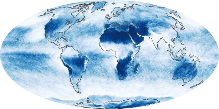 Global Map Cloud Fraction Image 65