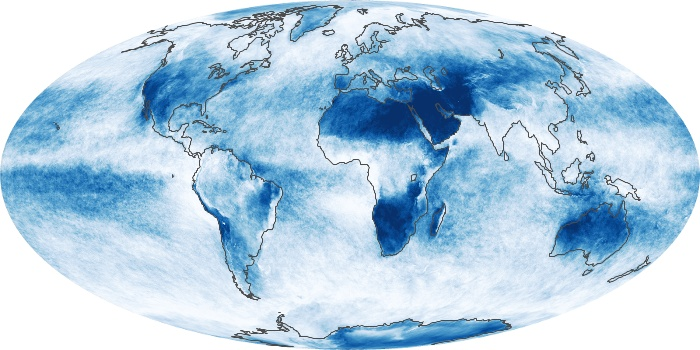Global Map Cloud Fraction Image 68