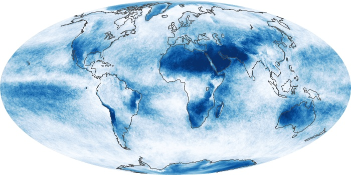 Global Map Cloud Fraction Image 40
