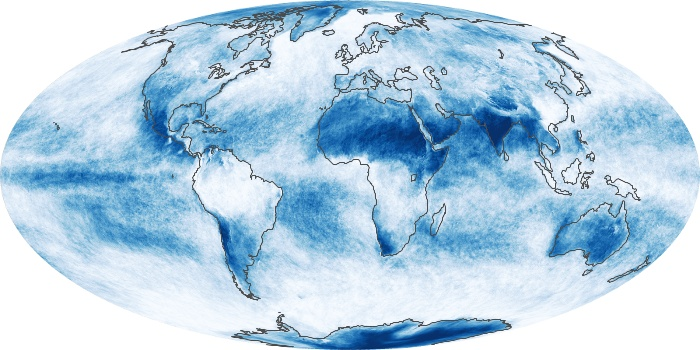 Global Map Cloud Fraction Image 72
