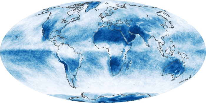 Global Map Cloud Fraction Image 75