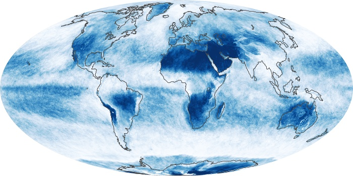 Global Map Cloud Fraction Image 48