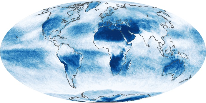 Global Map Cloud Fraction Image 49