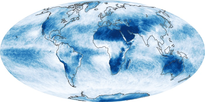 Global Map Cloud Fraction Image 80