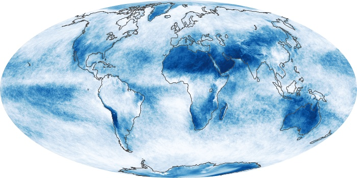 Global Map Cloud Fraction Image 81