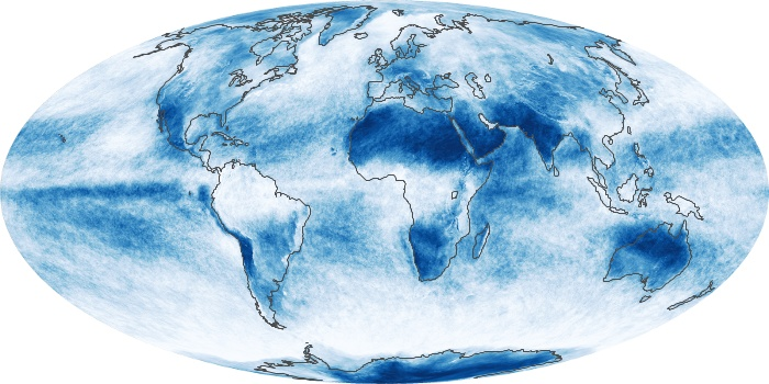 Global Map Cloud Fraction Image 87