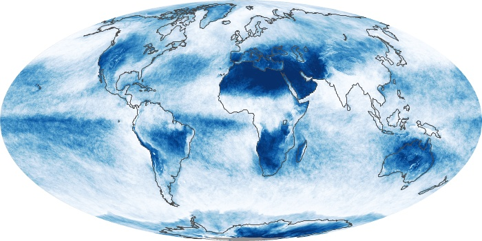 Global Map Cloud Fraction Image 89
