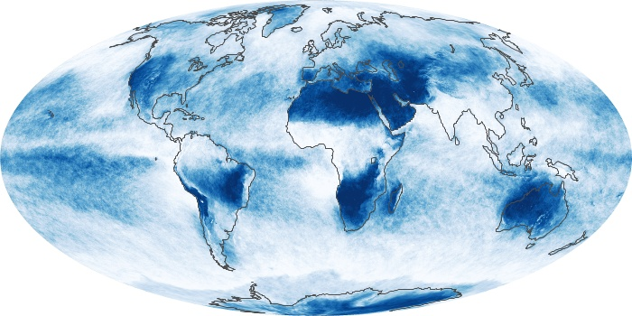 Global Map Cloud Fraction Image 91