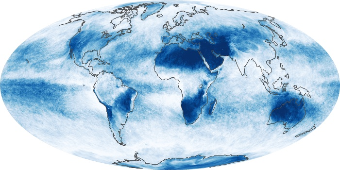 Global Map Cloud Fraction Image 92