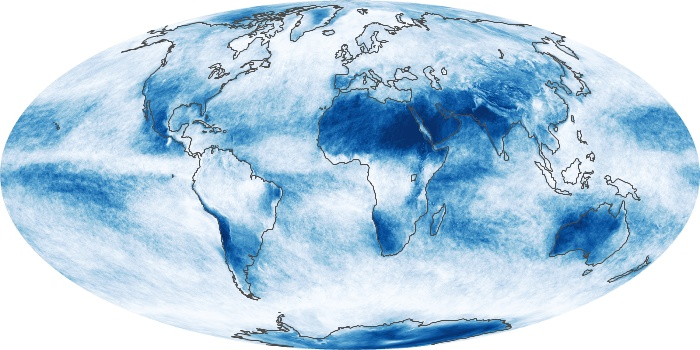 Global Map Cloud Fraction Image 93