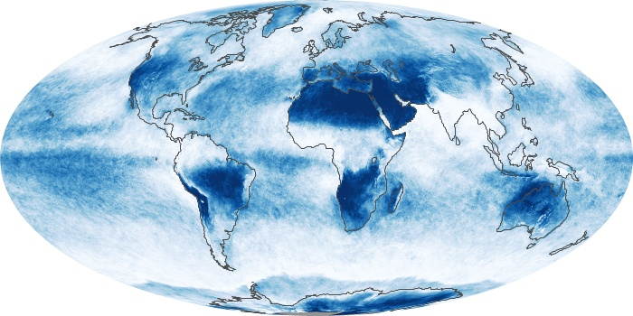 Global Map Cloud Fraction Image 73