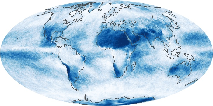 Global Map Cloud Fraction Image 105