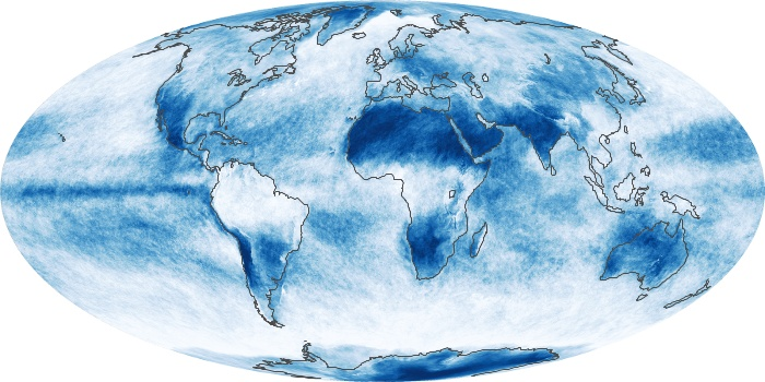 Global Map Cloud Fraction Image 82