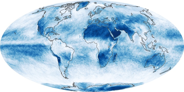 Global Map Cloud Fraction Image 83