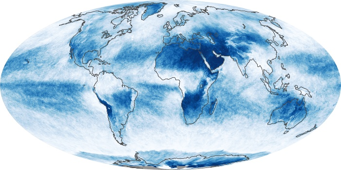 Global Map Cloud Fraction Image 84