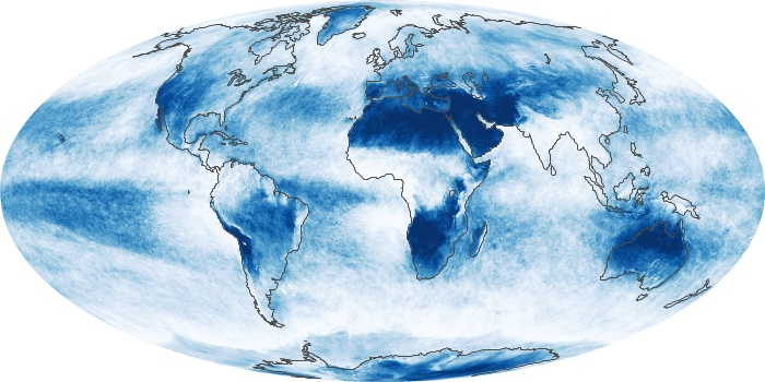 Global Map Cloud Fraction Image 86