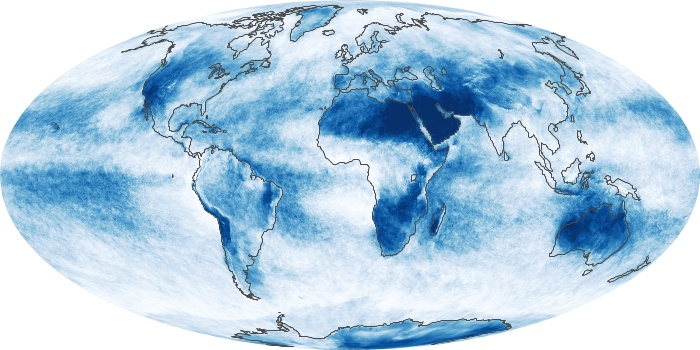 Global Map Cloud Fraction Image 116