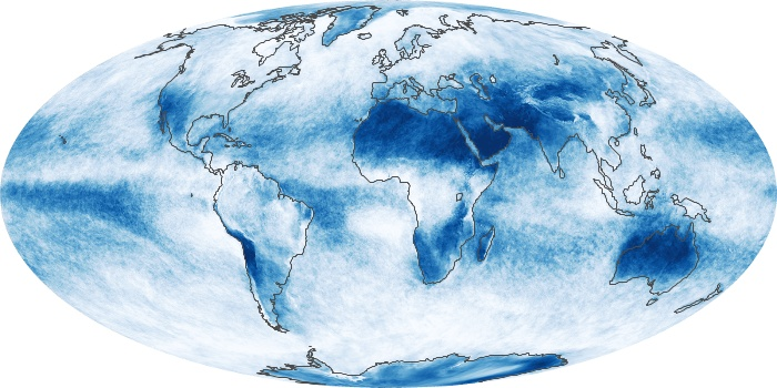 Global Map Cloud Fraction Image 88