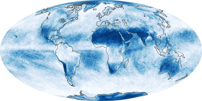Global Map Cloud Fraction Image 121