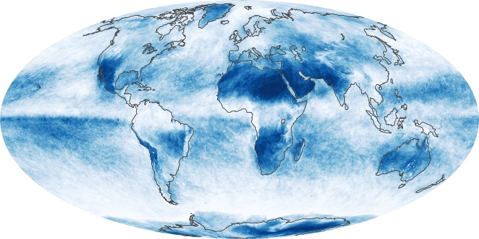Global Map Cloud Fraction Image 95