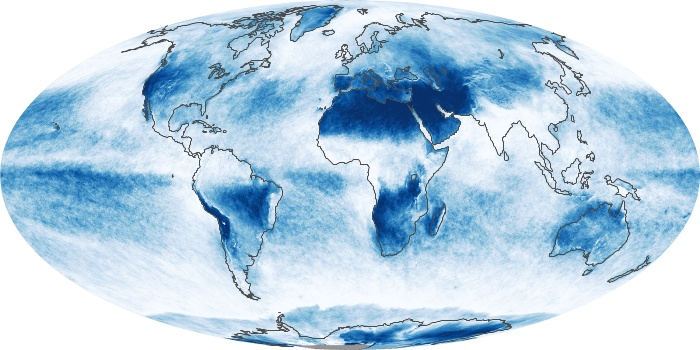 Global Map Cloud Fraction Image 125