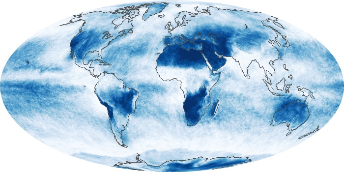 Global Map Cloud Fraction Image 98