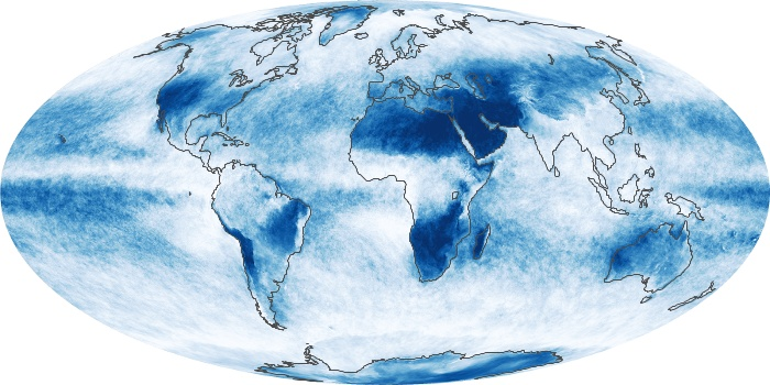 Global Map Cloud Fraction Image 127