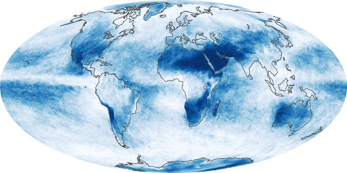 Global Map Cloud Fraction Image 100