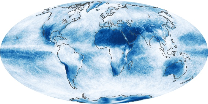 Global Map Cloud Fraction Image 130